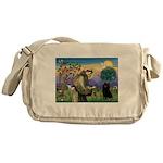 St Francis / Schipperke Messenger Bag