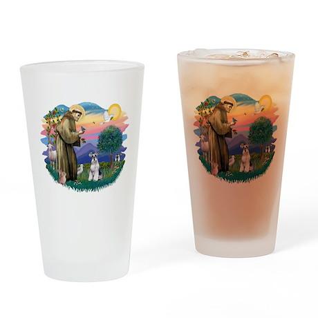 St.Francis #2/ Schnauzer #2 Drinking Glass