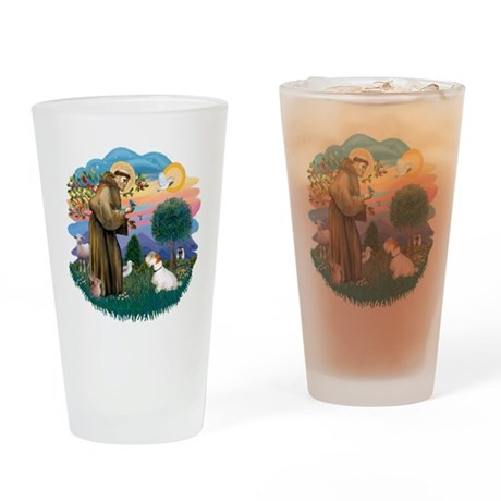 St Francis #2/ Sealyham T Drinking Glass