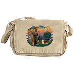 St.Francis #2/ Sheltie (sw) Messenger Bag