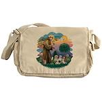 St.Francis #2/ Shih Tzus (4) Messenger Bag