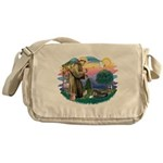 St.Francis #2/ Tibetan Spani Messenger Bag