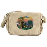 St.Francis #2/ Tibetan Spani Messenger Bag