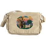 St.Francis #2/ Westies (2) Messenger Bag