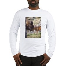Cute Bison Long Sleeve T-Shirt
