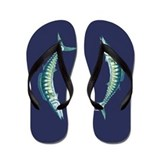 Wahoo Blue Flip Flops