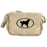 akbash dog oval Messenger Bag