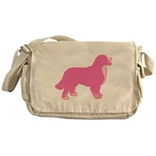 Tri Color Pink Bernese Messenger Bag
