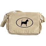 Chihuahua Oval Messenger Bag