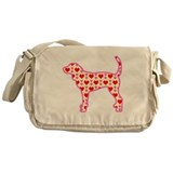 coonhound hearts Messenger Bag