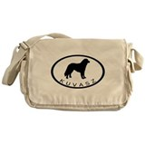 Kuvasz Dog Oval w/ Text Messenger Bag