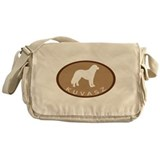 Kuvasz (brown oval) Messenger Bag