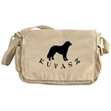 Kuvasz Dog w/ Text Messenger Bag