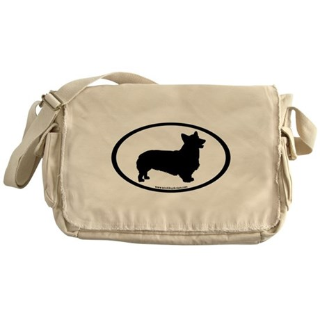 Welsh Corgi Oval Messenger Bag