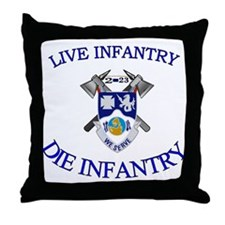 2nd Bn 23rd Infantry Throw Pillow