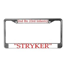 2nd Bn 23rd Infantry License Plate Frame