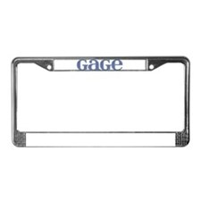 Gage Blue Glass License Plate Frame
