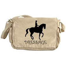 dressage silhouette Messenger Bag