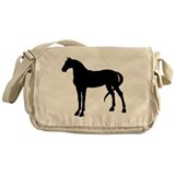 Horse Silhouette Messenger Bag