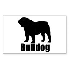 Bulldog Outline Decal