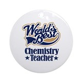 Chemistry Teacher Gift Ornament (Round)
