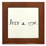 DECLARATION OF INDEPENDENCE 4 Framed Tile