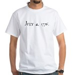 DECLARATION OF INDEPENDENCE 4 White T-Shirt