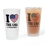 USA Love Drinking Glass