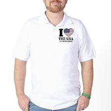 USA Love Golf Shirt