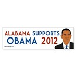 Alabama for Obama 2012 bumper sticker