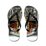 Army National Guard Skull and Flip Flops