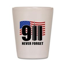 9-11 Never Forget Shot Glass