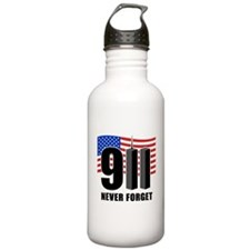 9-11 Never Forget Water Bottle