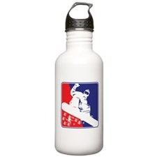 Snowboarder in Red White and Blue Water Bottle