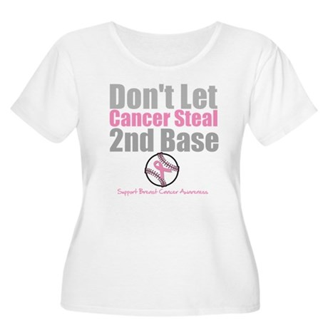 Dont Let Cancer Steal 2nd Base Women's Plus Size S