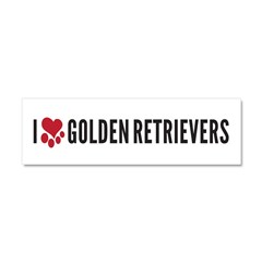 I Heart Golden Retrievers Car Magnet 10 x 3