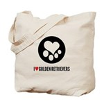 I Heart Golden Retrievers Tote Bag