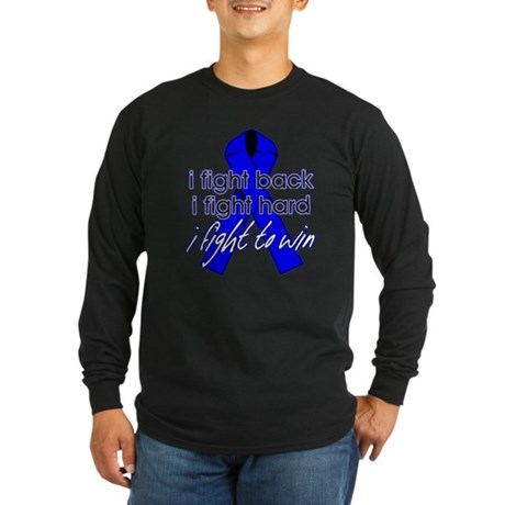 Rectal Cancer I Fight Back Long Sleeve Dark T-Shir