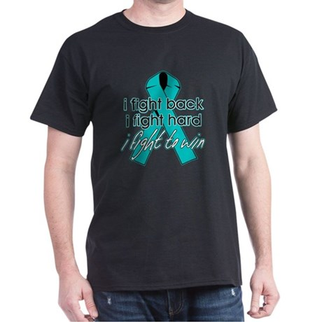 Ovarian Cancer I Fight Back Dark T-Shirt