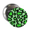 "Bright green animal print 2.25"" Button (10 pack)"