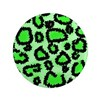 "Bright green animal print 3.5"" Button"