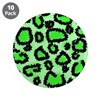 "Bright green animal print 3.5"" Button (10 pack)"