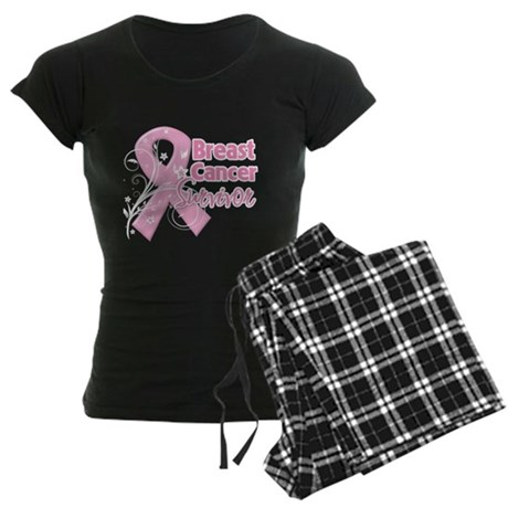 Breast Cancer Survivor Women's Dark Pajamas