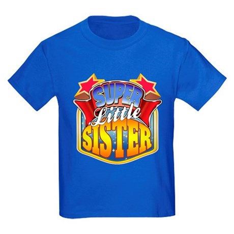 Super Little Sister Kids Dark T-Shirt