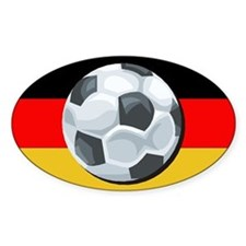 German Soccer Oval Decal