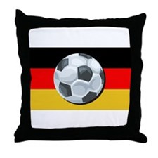 German Soccer Throw Pillow