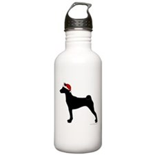 Santa Basenji Water Bottle