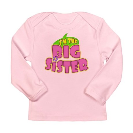 Pink Big Sister Long Sleeve Infant T-Shirt