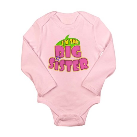 Pink Big Sister Long Sleeve Infant Bodysuit
