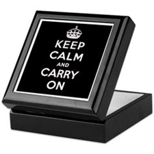 KEEP CALM AND CARRY ON Keepsake Box